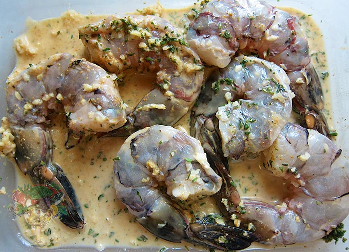 Let the shrimp marinate for at least 30 minutes, either in a bowl or a ...