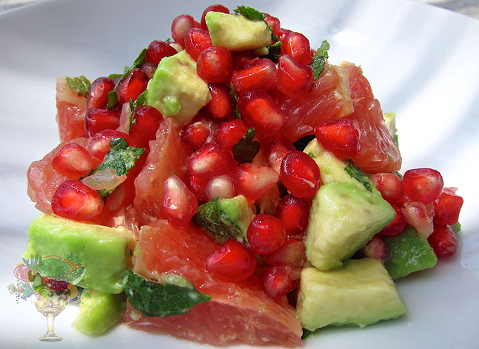 Avocado, Grapefruit, And Pomegranate Salad Recipe — Dishmaps