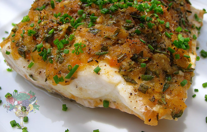 Tomato thyme baked fish recipe christopher james clark for Fish thyme menu
