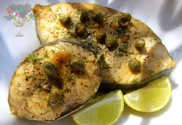 Mustard capers kingfish recipe nutritional grail for King fish recipe