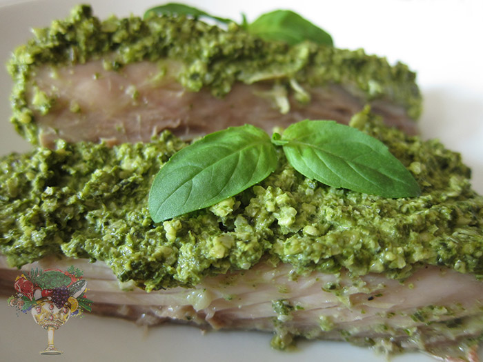Oven Baked Fish W Basil Pumpkin Seed Pesto Recipe