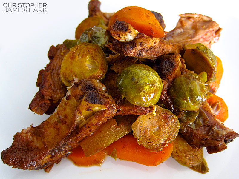 Allspice Ribs w. Brussels Sprouts