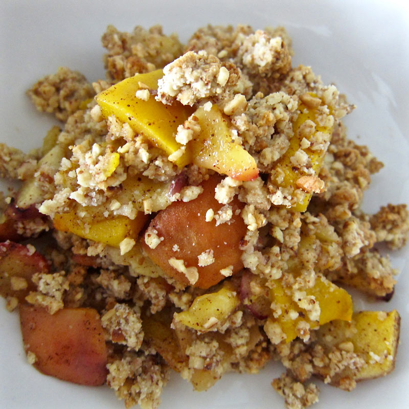 Mango Peach Crumble
