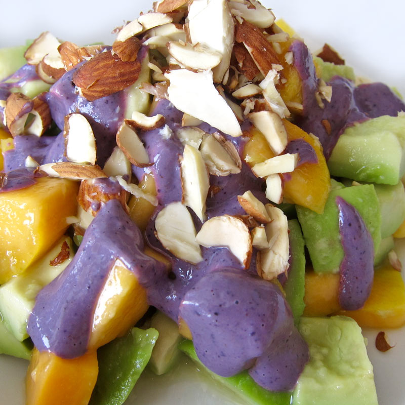 Fruit Bowl w. Purple Tahini Sauce