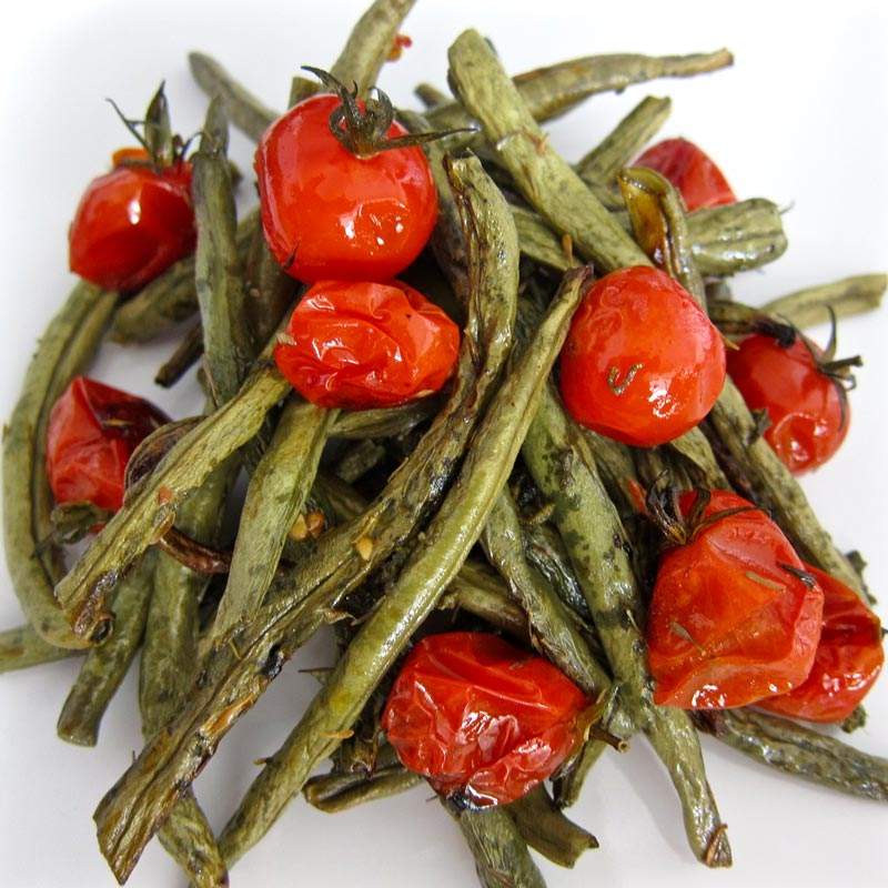 Roasted Green Beans and Cherry Tomatoes w. Sage