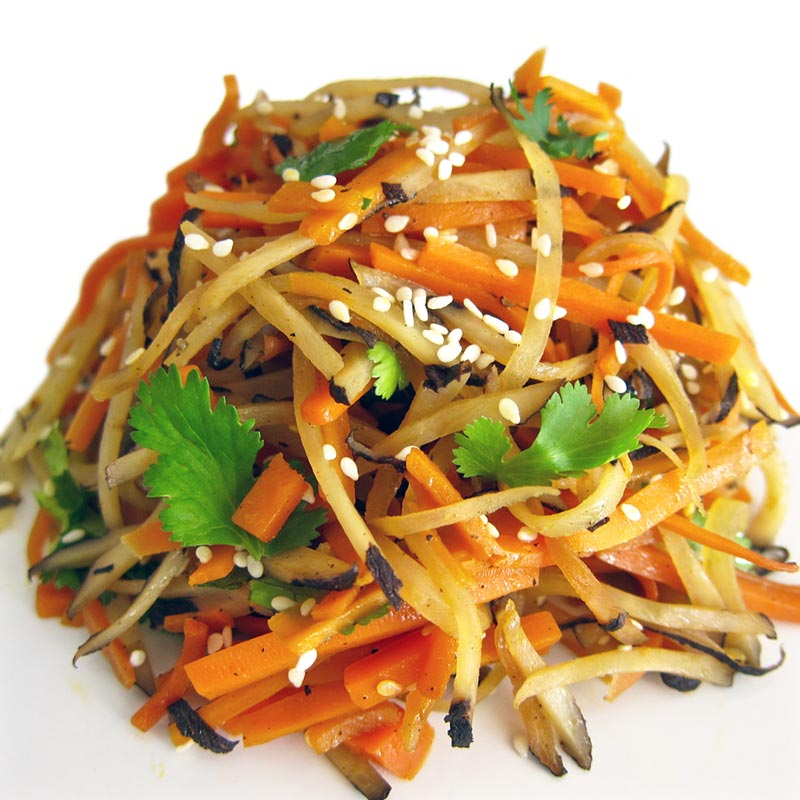Japanese Kinpira Gobo (Sesame, Burdock and Carrots) Recipe