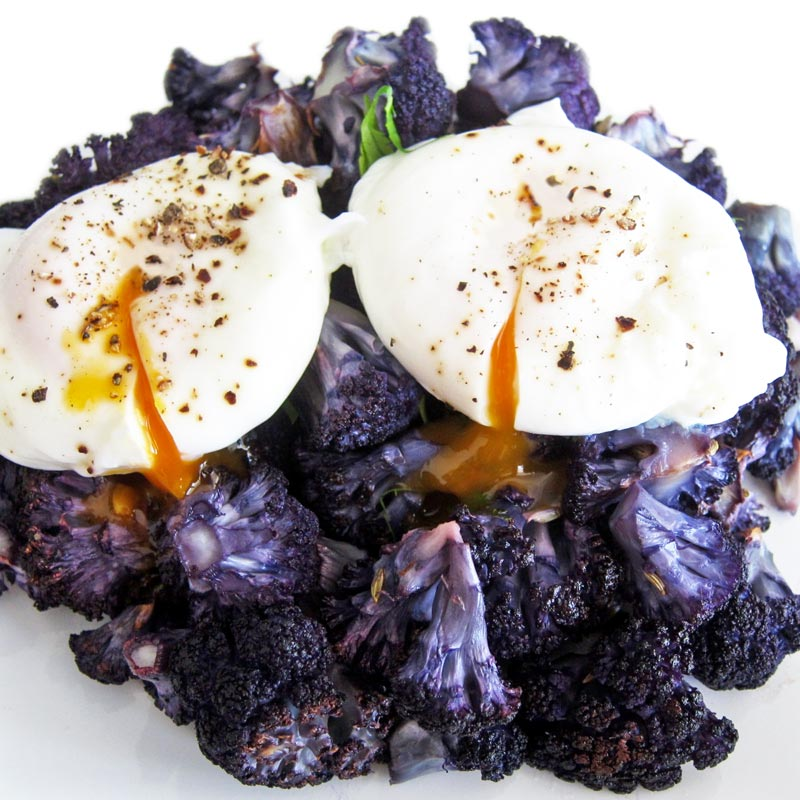 Roasted Purple Cauliflower Recipe (and Selective Breeding vs. GMO)