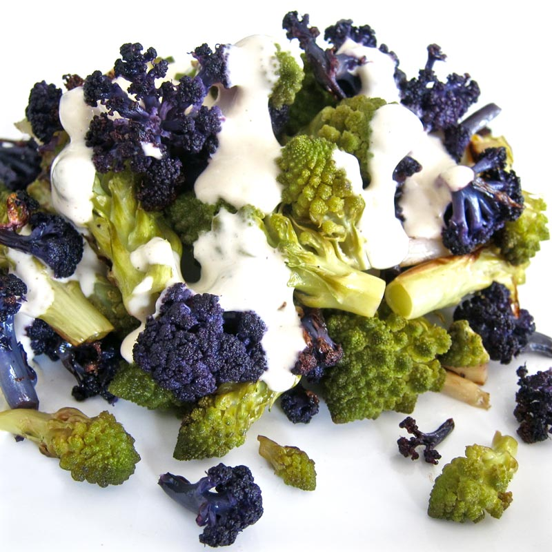 Roasted Romanesco w. Purple Haze Cauliflower Recipe