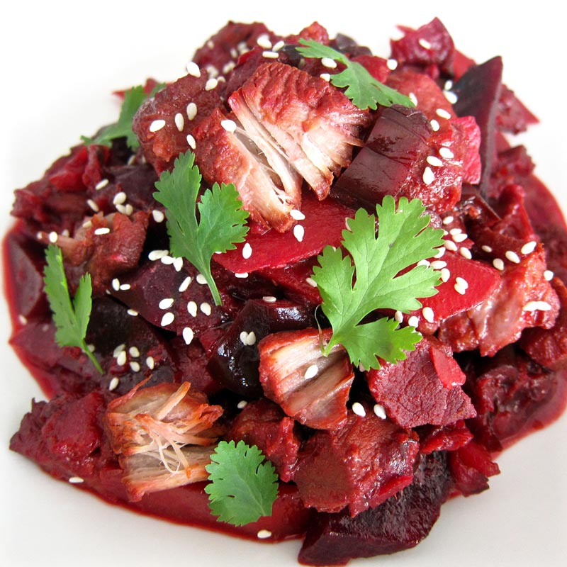 Slow Cooked Coconut Pork w. Beetroot Recipe