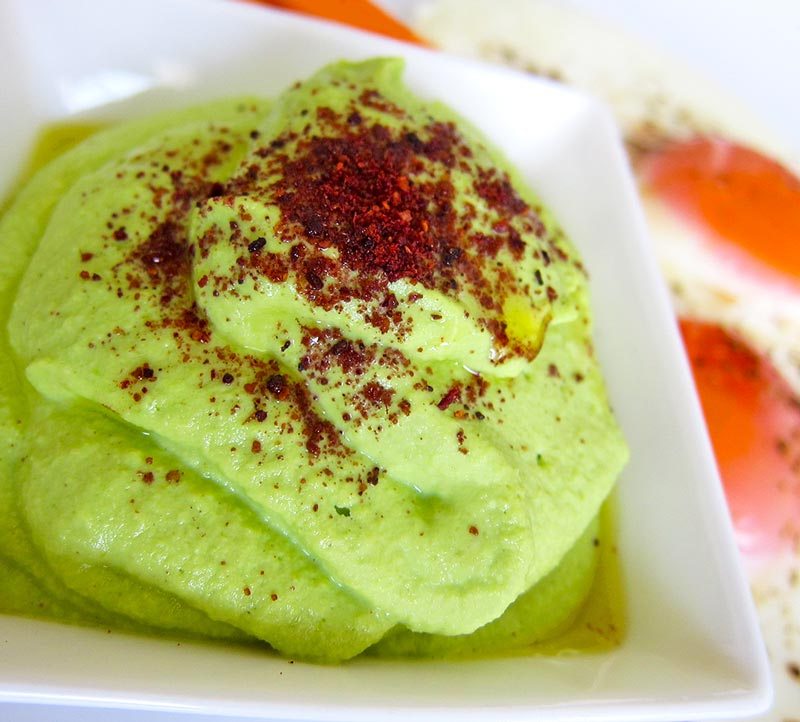 Fresh Green Pea Cashew Lime Hummus