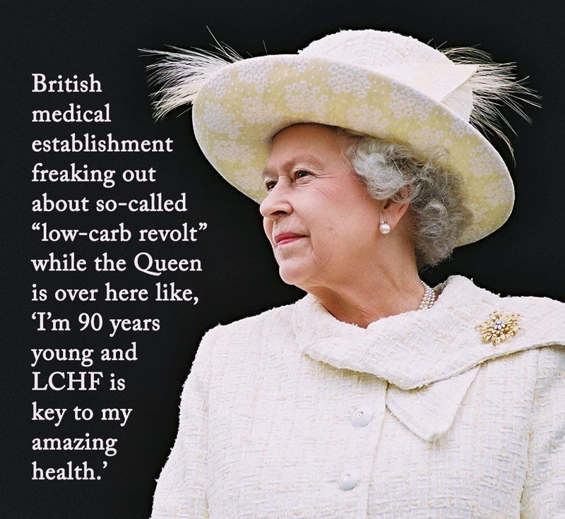 Queen Outed as Low-Carber Amidst Establishment Freakout